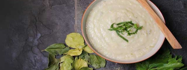Celeriac & Coconut Soup (With Kaffir Lime Leaves and Lemongrass)