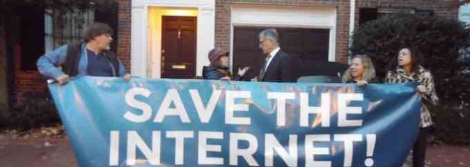 Breaking Video: Net Neutrality Advocates Blockade FCC Chairman's Georgetown Home