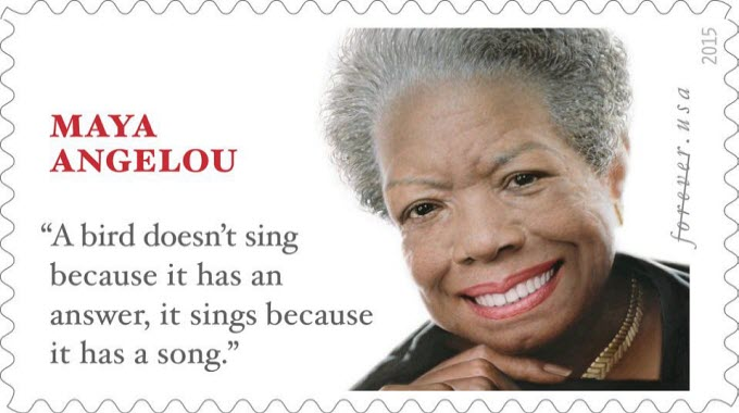 A stamp issued this week by the US Postal Service commemorating the American writer Maya Angelou attributes a famous quote to her that she didn't actually say. But she's not the first person to have words put in their mouth