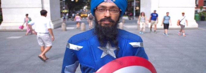 """This Sikh Man Dresses Up As Captain America """"To Fight Intolerance"""""""