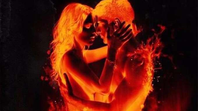 couple in fire love