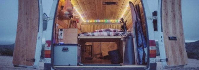 Watch As This Filmmaker Converts His 14 Ft Van Into A Traveling Home [Video]