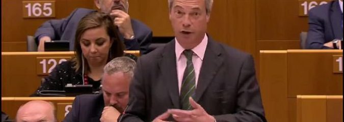 MUST SEE: Nigel Farage Speech At European Parliament After Brexit Vote