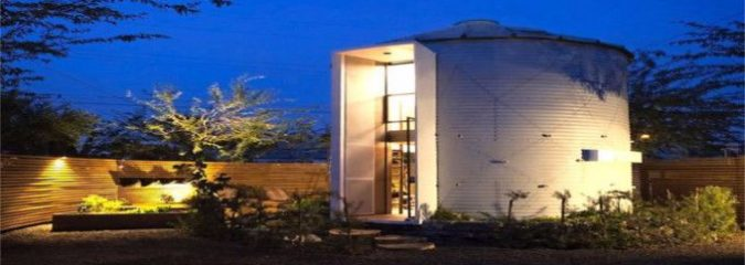 Newlywed Couple Creates Tiny, Stylish Home Out of a Grain Silo
