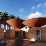 Bowl-Shaped Roofs Harvest Rainwater To Naturally Cool Homes In Arid Environments