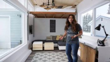 Get the Plans to This Beautiful DIY Tiny House with Elevator Bed for FREE and Build Your Own