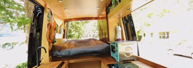 Hit the Road: Check Out This Brilliant Van Conversion That Even Comes with a Shower!